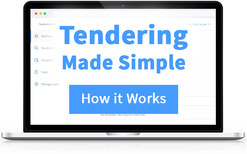 find out more about tender rocket (text on a laptop)
